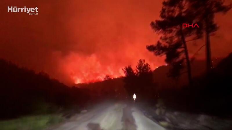 Bodrum'da yangın gece boyu sürdü, iki mahalle boşaltıldı