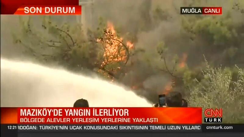 Bodrum'da alevler Mazıköy'e sıçradı