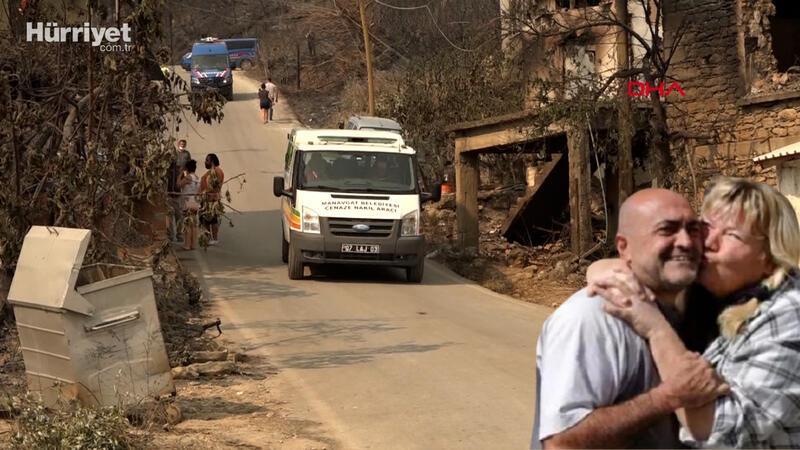 Manavgat'taki yangında Fahri Yiğitokur ve eşi  Andrea Hartmann Yiğitokur yanarak öldü