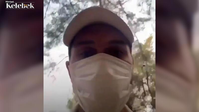 Oyuncu Alperen Duymaz, Fethiye'de yangın söndürme çalışmalarına katıldı