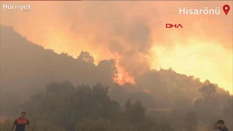 Marmaris Hisarönü'nde yangın