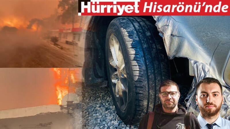 Hürriyet muhabirleri, Hisarönü'nde alevlerin arasında!