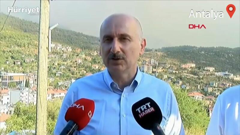 Bakan Adil Karaismailoğlu, yangınlardaki son durum hakkında bilgi verdi
