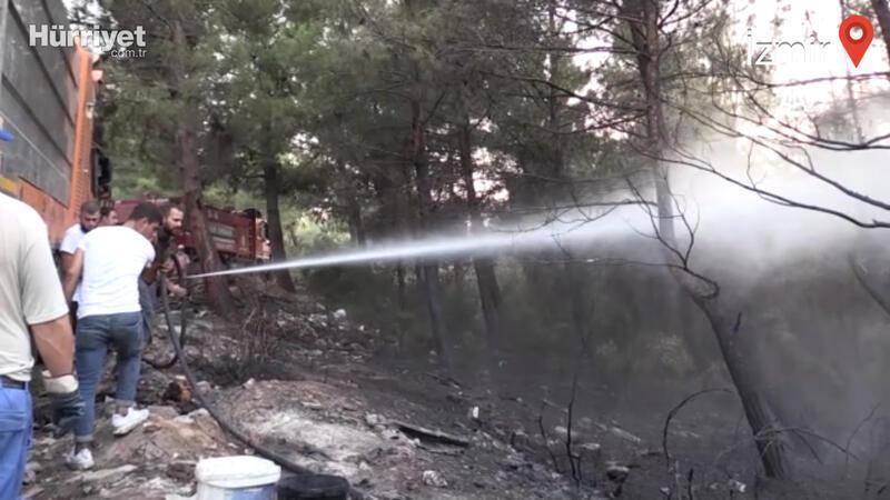 İzmir'in Gaziemir ilçesinde çıkan orman yangını kontrol altına alındı