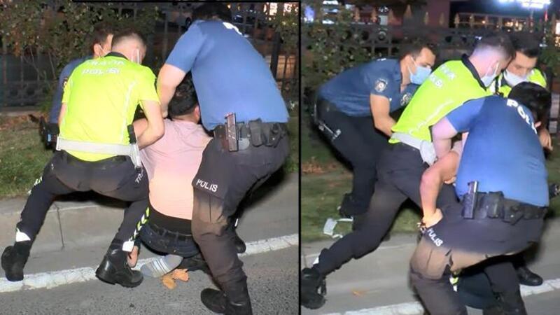 Sarıyer'de başkasının ehliyetiyle yakalanan sürücü polise zor anlar yaşattı