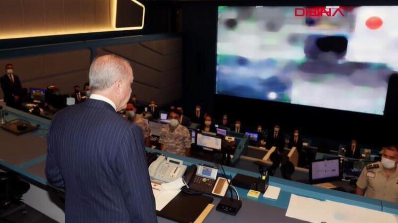 Cumhurbaşkanı Erdoğan, Kriz Merkezi'nde yangınlar hakkında bilgi aldı