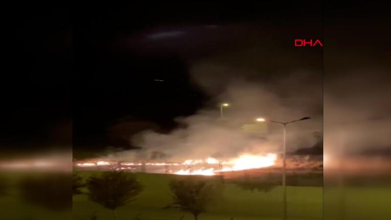 Denizli'de kışla yakınında yangın çıkarmaya çalışan şüpheli yakalandı