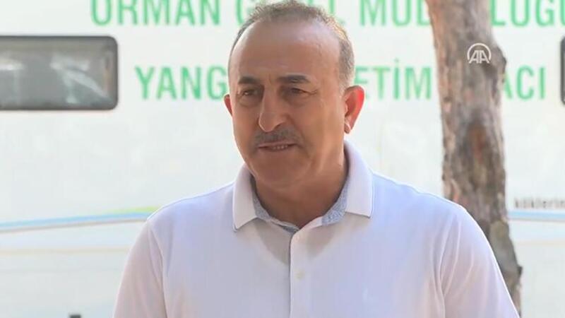 Dışişleri Bakanı Çavuşoğlu'ndan orman yangını bölgesinde açıklamalar