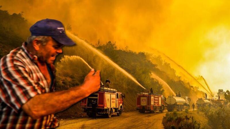 Manavgat'ta yangınlarla ilgili bir kişi tutuklandı