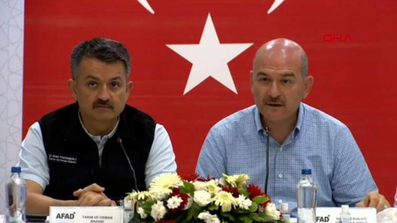 Bakanlar Bekir Pakdemirli ve Süleyman Soylu, Marmaris'te açıklamalarda bulundu