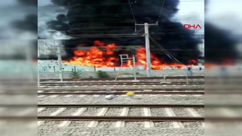 Çankaya'da inşaat şantiyesinde yangın