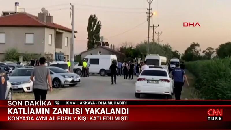 Konya'da katliamın zanlısı yakalandı