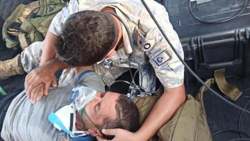 MSB: Milas'ın Fesleğen Yaylası'ndaki yangında mahsur kalan bir vatandaşımız kurtarıldı