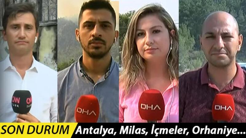 Antalya, Milas, Manavgat, Marmaris... Mücadele sürüyor: İnsanüstü gayret var