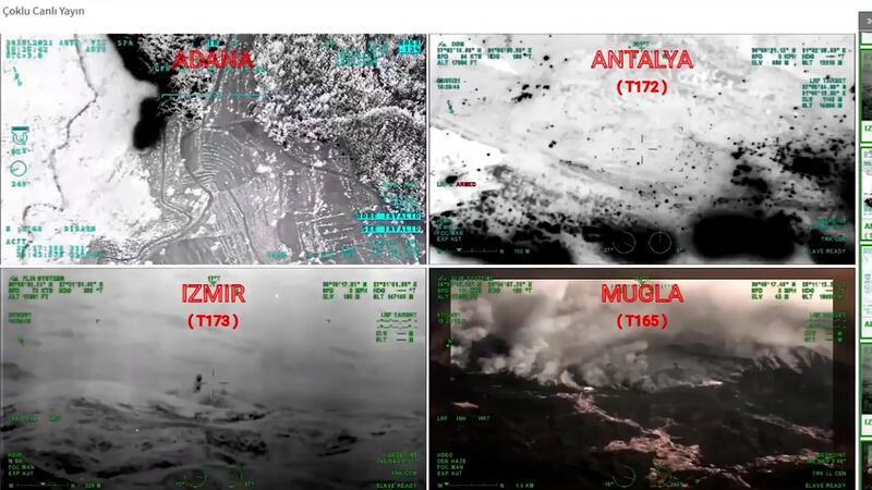 Orman yangınlarını İHA'lar tespit ediyor, helikopter ve uçaklar müdahale ediyor