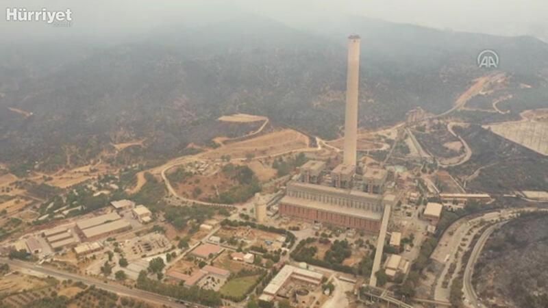 Kemerköy Termik Santrali'ndeki yangın ana binaya sıçramadan kontrol altına alındı