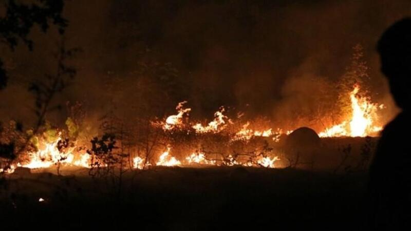 """Kuzey Makedonya'da, orman yangınları nedeniyle """"kriz durumu"""" ilan edildi"""