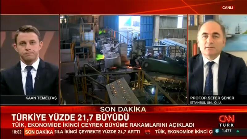 Türkiye ikinci çeyrekte yüzde 21.7 büyüdü