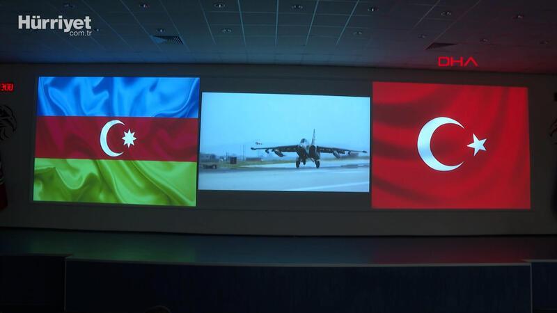 Hulusi Akar, Türkiye ve Azerbaycan hava kuvvetlerince yapılan Turaz Şahini 2021 Tatbikatı'na katıldı