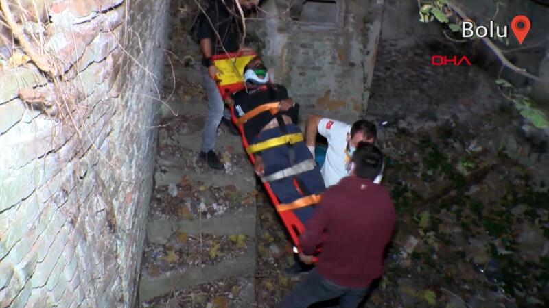 15 metrelik Tarihi Bursa Surları'ndan düşen kişiyi ağaçlar kurtardı