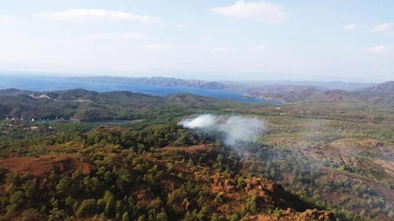 Muğla Marmaris'te çıkan orman yangını kontrol altına alındı