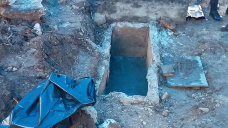 Ordu'da yol yapım çalışmasında tarihi lahit mezar bulundu