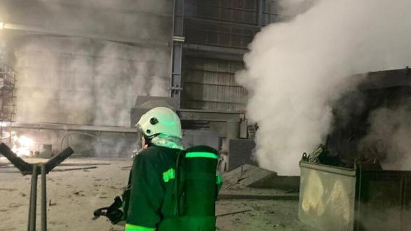 Bartın'da demir çelik fabrikasında patlama
