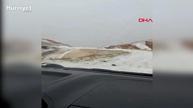 Erzurum'da ilk kar yağışı başladı