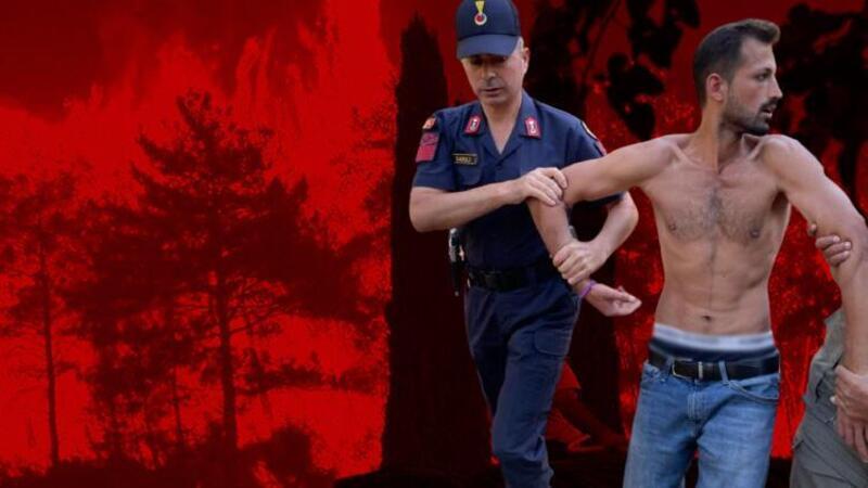 Elindeki çakmakla yangın çıkarmaya çalışan kişi suçüstü yakalandı