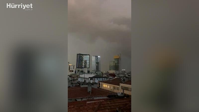Meteoroloji 'sarı kod'la uyarmıştı! İstanbul'da yağmur başladı
