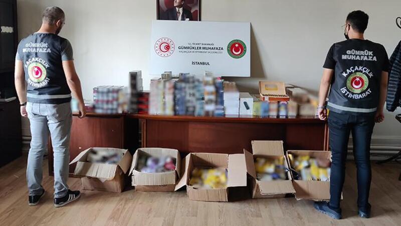 İstanbul'da 1 milyon TL değerinde kaçak tütün ve tütün mamülü ele geçirildi