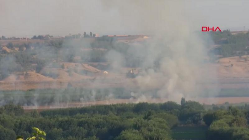 Diyarbakır'da Hevsel Bahçeleri'nde yangın