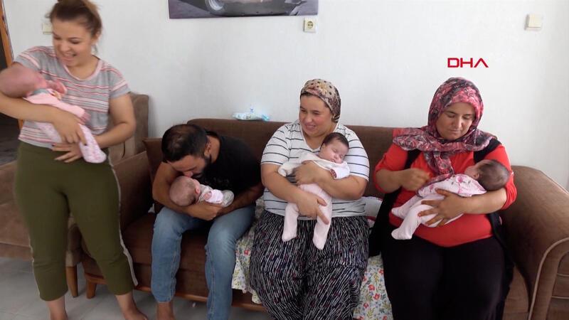 Hamileyken Kovid-19'u yendi, dördüz bebeklerine kavuştu