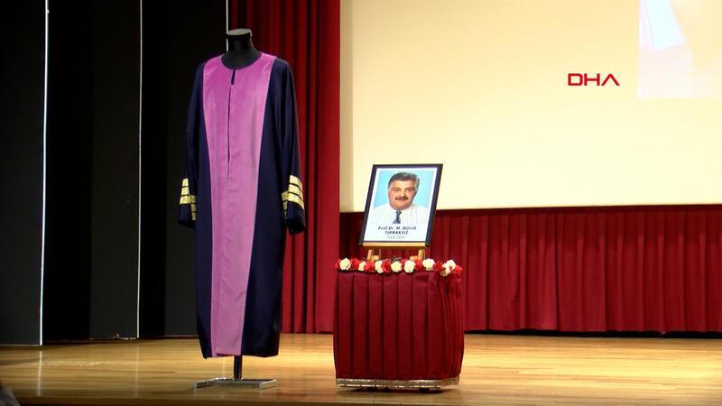 Covid-19'dan hayatını kaybeden Prof. Dr. Tırnaksız için hüzünlü tören