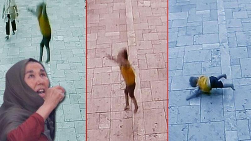 Denizli'de balkondan sarkan bebeğin düşme anı kamerada