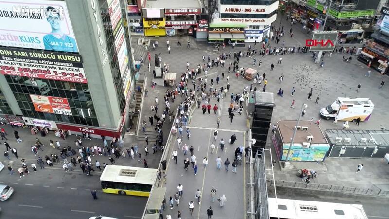 Şirinevler Meydanı'nda metrelerce toplu ulaşım kuyruğu