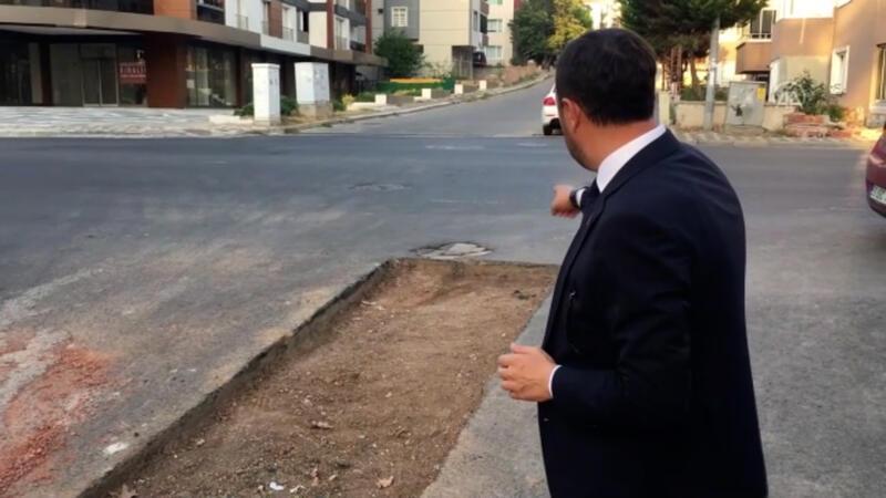 Belediye başkanı, asfaltlanan yolun kazılmasına tepki gösterdi