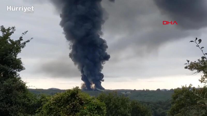 Şile'de fabrikada yangın çıktı
