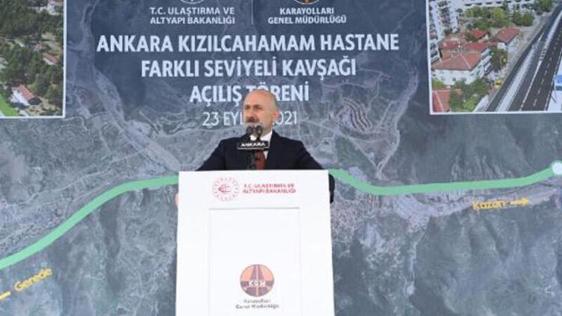 Bakan Karaismailoğlu, 'Kızılcahamam Hastanesi Köprülü Kavşağı'nın açılış töreninde açıklamalarda bulundu