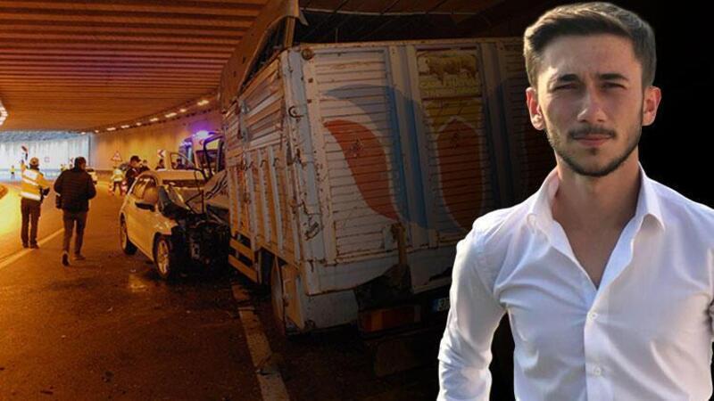 Tünelde meydana gelen zincirleme kazada uzman çavuş yaşamını yitirdi