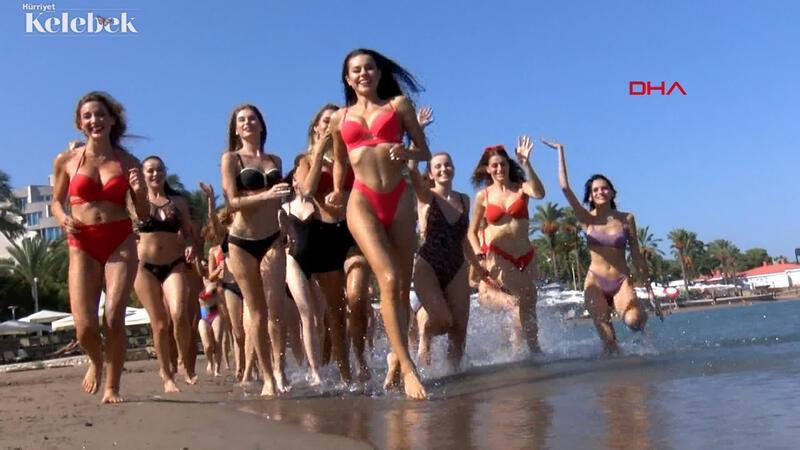 40 ülkeden güzellik kraliçesi adaylarının deniz keyfi