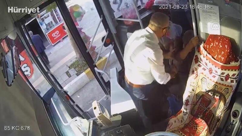 Halk otobüsünde kalp krizi geçiren yolcuyu şoför hastaneye ulaştırdı