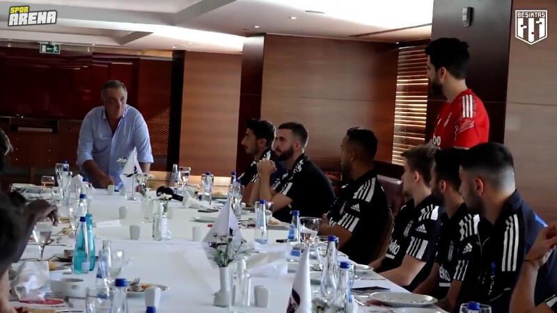 Beşiktaş Başkanı Ahmet Nur Çebi, Altay maçı öncesi takıma başarılar diledi