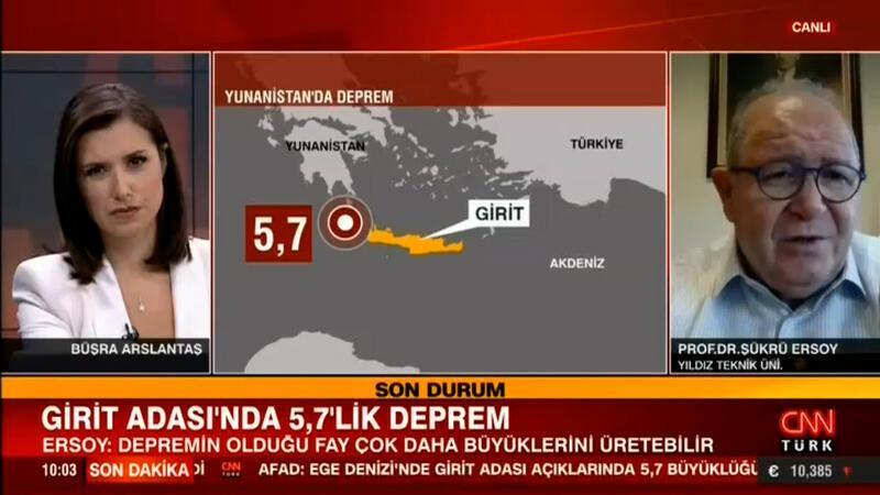Yunanistan'ın Girit adasında deprem! İlk görüntüler