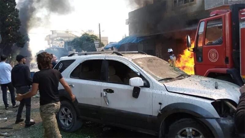 Suriye'nin Cerablus ilçesinde düzenlenen terör saldırılarında ölü ve yaralılar var