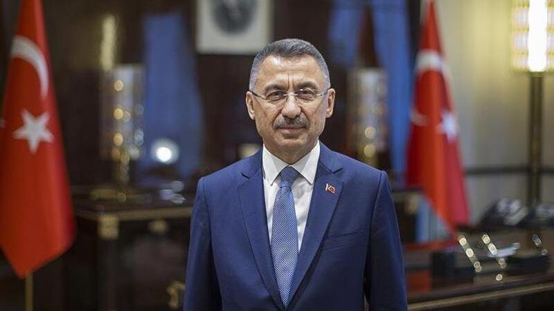 Cumhurbaşkanı Yardımcısı Oktay, KKTC Milli Eğitim ve Kültür Bakanı Olgun Amcaoğlu'nu kabul etti