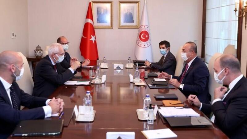 Bakan Çavuşoğlu, Avrupa Konseyi Kalkınma Bankası Başkanı Wenzel'i kabul etti