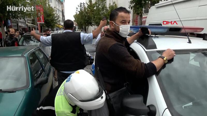 Murat Özdemir, bu kez gazeteci ve polislere sataştı; yine gözaltında