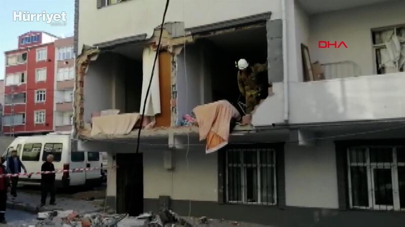 Avcılar'da bir evde patlama meydana geldi