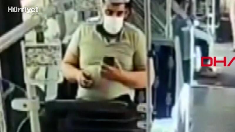 Metrobüste yolcunun koltuğa düşürdüğü cep telefonunu alan şüpheli yakalandı